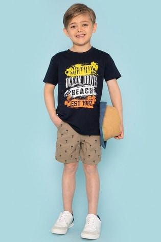 Threadboys Stone Ted Printed Chino Shorts