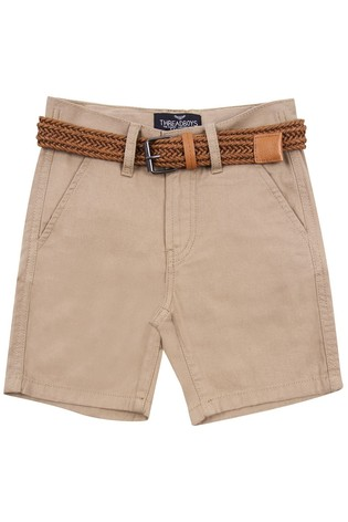 Threadboys Stone Kale Belted Chino Shorts