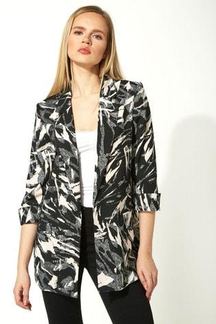 Roman Multi Abstract Printed Woven Jacket