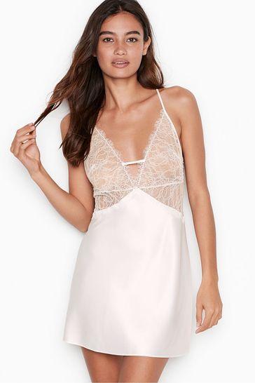 Victoria's Secret Lace Plunge Slip