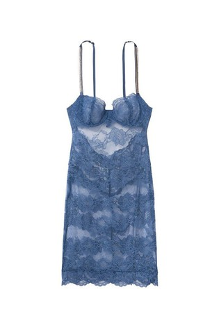 Victoria's Secret Wicked Unlined Bling Strap Lace Cupped Mini Slip