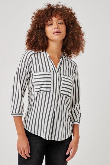 Vero Moda White Stripe Stripe 3/4 Shirt