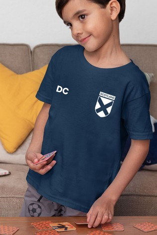 Personalised Scotland Football Supporter Kid's T-Shirt by Instajunction