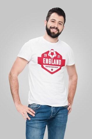 Instajunction White England Football Euros Supporter Men's T-Shirt