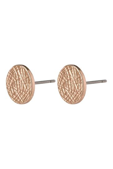 PILGRIM Rose Gold Stud Wynonna Earrings