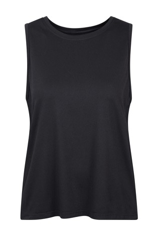 Mountain Warehouse Black Womens Recycled Loose Fit Vest Top