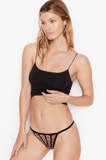 Victoria's Secret Strappy Mesh V-String Panty