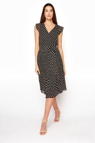 Long Tall Sally Black Spot Full Skirt Dress