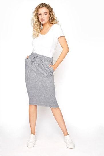 Long Tall Sally Grey Jersey Sweat Skirt