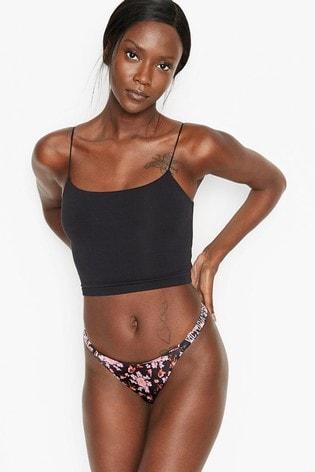 Victoria's Secret Bombshell Shine Strap Floral Thong Panty