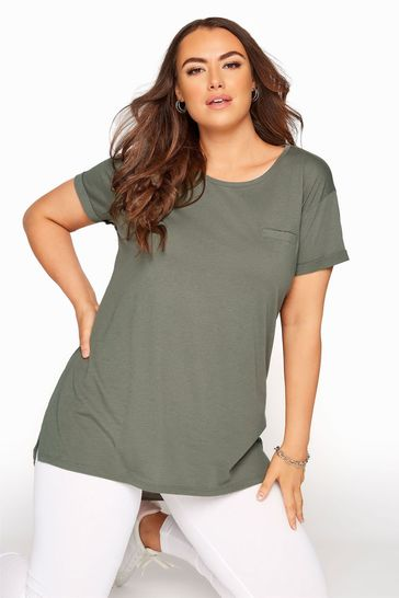 Yours Green Organic Cotton Blend Pocket Tee
