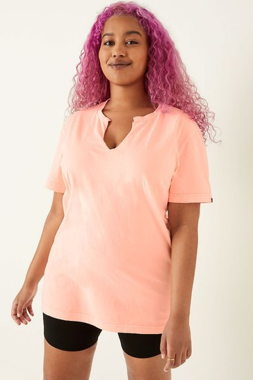 Victoria's Secret PINK Campus Short Sleeve Notch Neck Tee