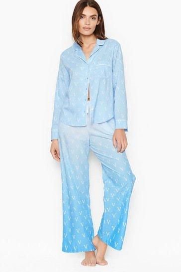 Victoria's Secret Cotton Long PJ Set