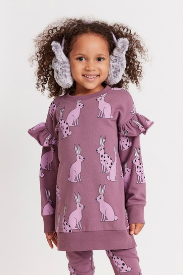 Lindex Purple Kids Frill Sweater Top