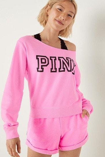 Victoria's Secret PINK Everyday Lounge Open Neck Crew