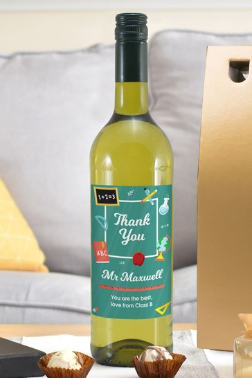 Personalised Thank You Wine by Signature Gifts