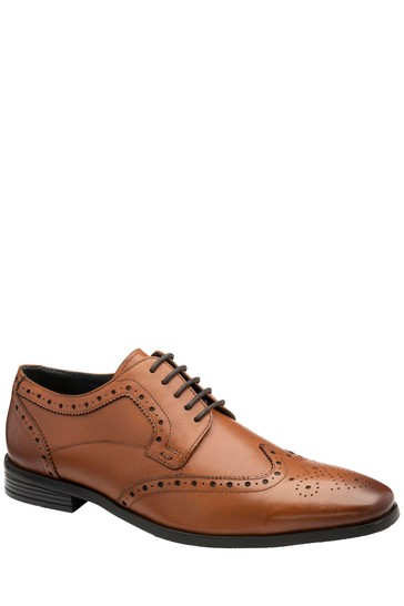 Frank Wright Brown Mens Leather Brogue Shoes