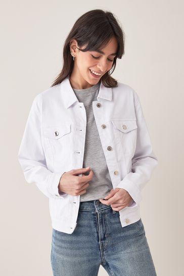 Vero Moda Bright White Classic Denim Jacket