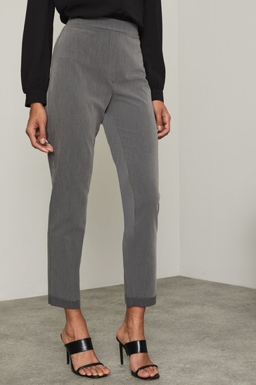 Lipsy Grey Regular Tapered Trousers