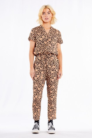 Never Fully Dressed Brown Animal Jumpsuit
