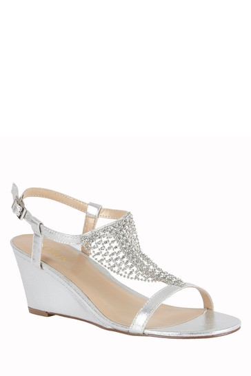 Lotus Footwear Silver Silver Wedge Sandals
