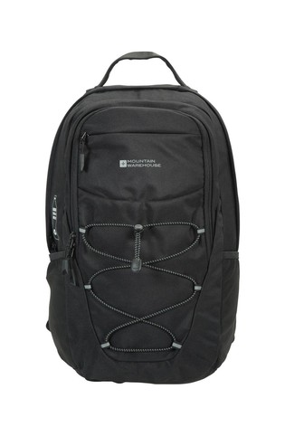 Mountain Warehouse Black Recycled Polyester Laptop Backpack - 20L