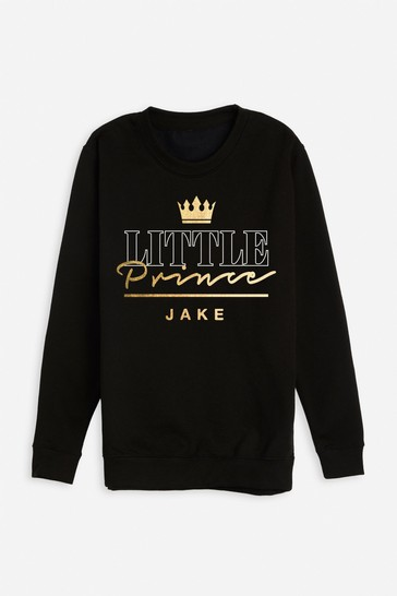 Personalised Little Prince Boys Sweatshirt by Dollymix