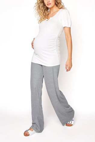 Long Tall Sally White Ribbed Top