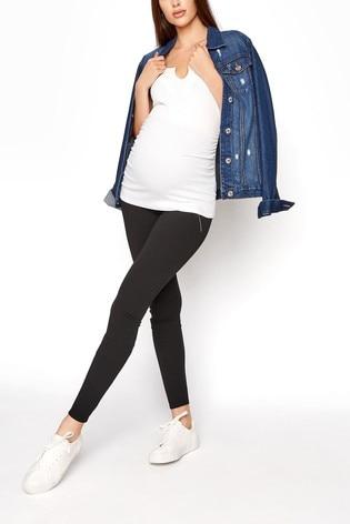 Long Tall Sally Black Zip Side Leggings