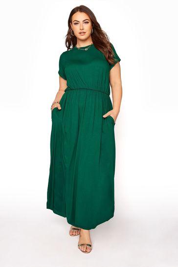 Yours Green Pocket Maxi Dress