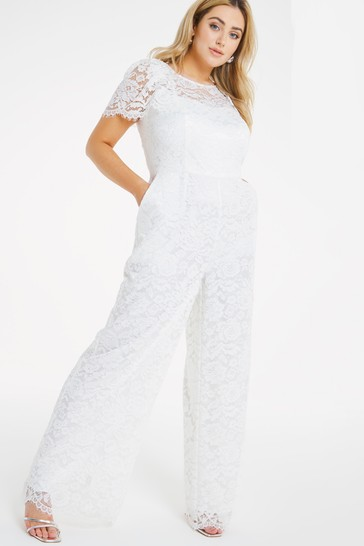 Simply Be Ivory Joanna Hope Bridal Lace Jumpsuit