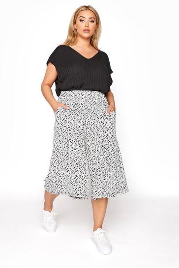 Yours White Print Culotte