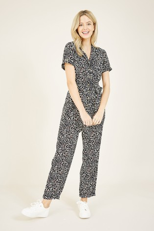 Yumi Blue Animal Print Jumpsuit