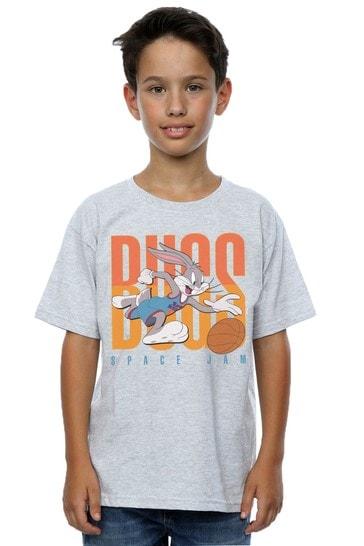 Space Jam: A New Legacy Heather Grey Balling Bugs Boys Heather Grey T-Shirt