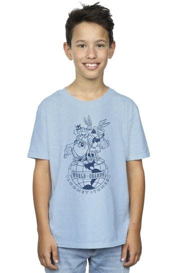 Brands In BLUE World Champs Boys Light Blue T-Shirt