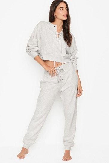 Victoria's Secret Cotton Fleece Lace Up Jogger