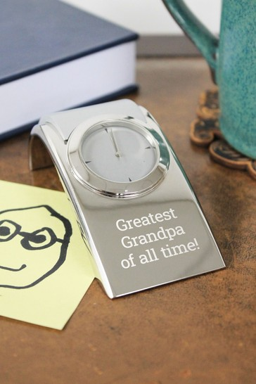 Personalised Lexington Desk Clock by CEG Collection