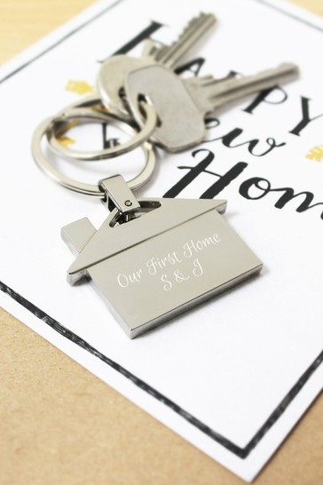 Personalised House Keyring  by CEG Collection