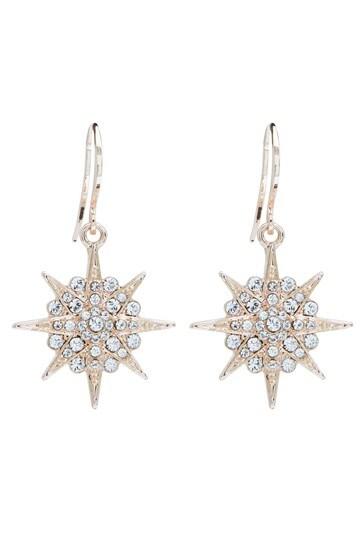 Jon Richard Rose Gold Plate Star Earring