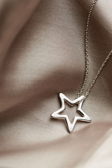 Personalised Open Star Necklace by Posh Totty Designs