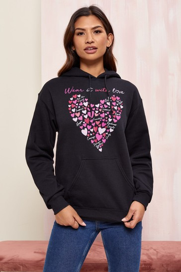 Wear it with Love Black Women's Hoodie