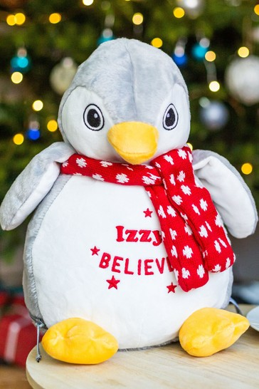 Personalised Christmas Penguin Soft Toy by Percy and Nell