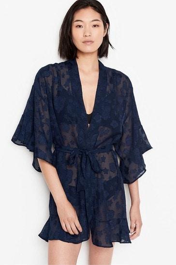 Victoria's Secret Jacquard Flounce Robe