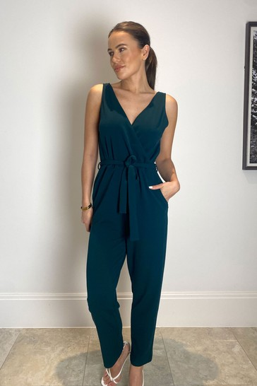 Girl In Mind Green Wrap Jumpsuit