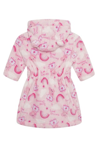 Brand Threads Pink Peppa Pig Girls Robe