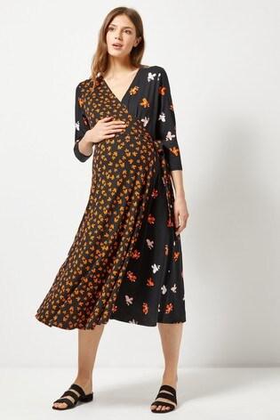 Dorothy Perkins Maternity Frill Midi Dress