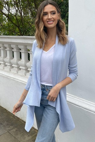 Lipsy Baby Blue Knitted Waterfall Cardigan