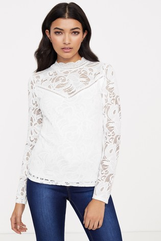 Vila Lace Long Sleeve Top