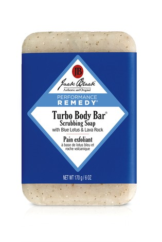 Jack Black Turbo Body Bar Scrubbing Soap With Blue Lotus and Lava Rock 170g