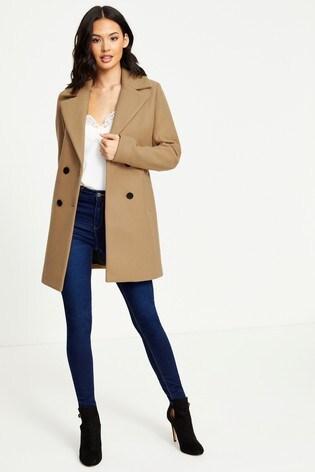 Soffocante In bocca al lupo Riparazione possibile  Buy Fashion Union Double Breasted Coat from Next Ireland